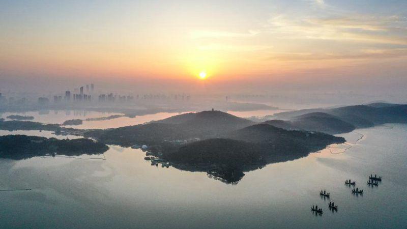 Landschaft in Wuxi in Ostchinas Jiangsu