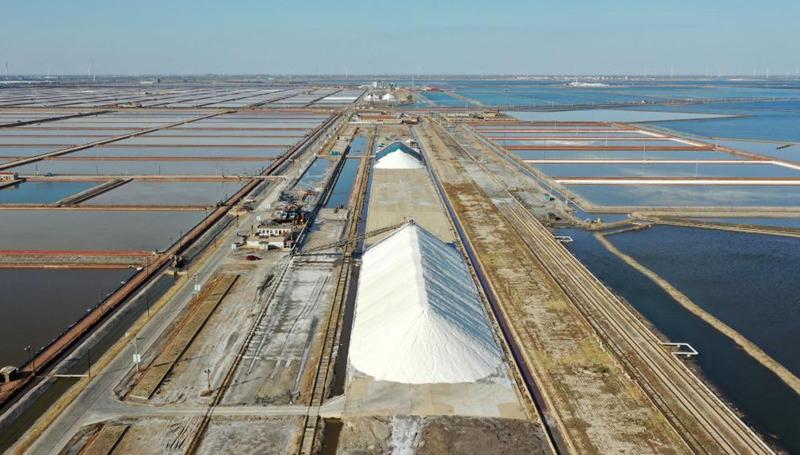 In Bildern: Salzfelder in Tianjin