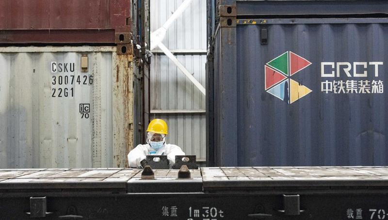 Bahnhof in Xinjiang verzeichnet 1.500 China-Europa-Güterzüge im laufenden Jahr